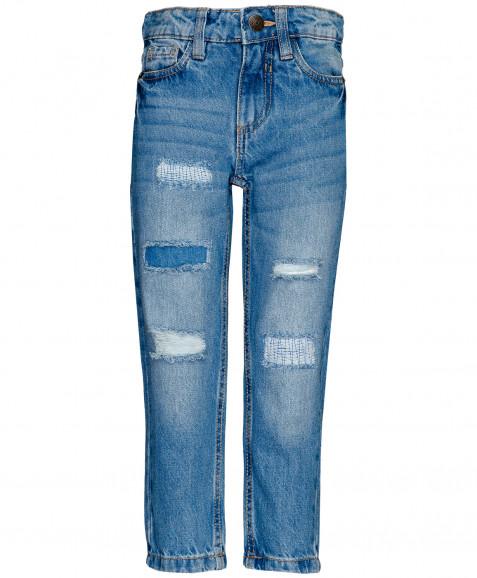 Голубые джинсы Boyfriend