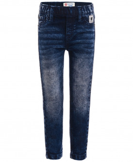 Голубые джинсы Slim Fit на резинке