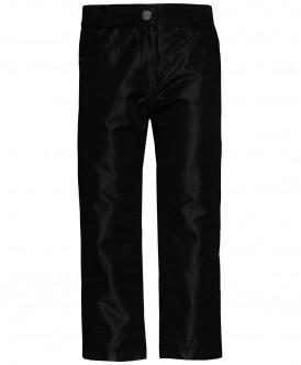 Черные брюки на флисовой подкладке 219BBGC64010800 фото