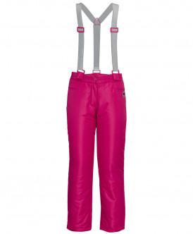 Малиновые утепленные зимние брюки