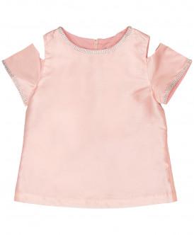 Розовая нарядная блузка
