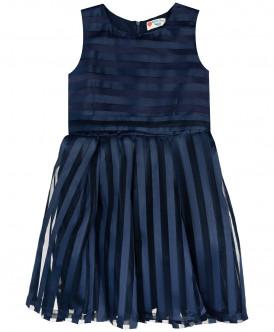 Синее нарядное платье