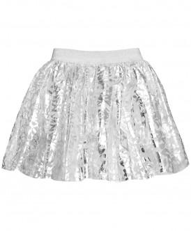 Серебряная нарядная юбка
