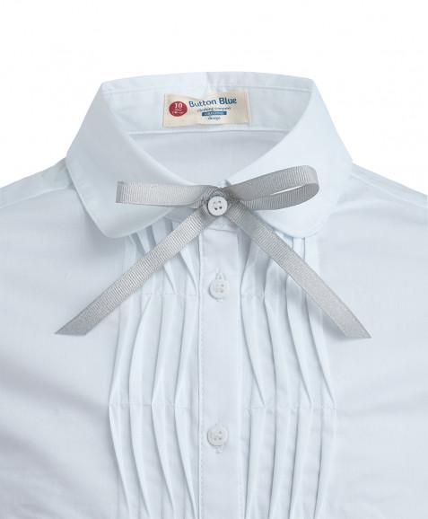 Белая блузка со сменным бантиком