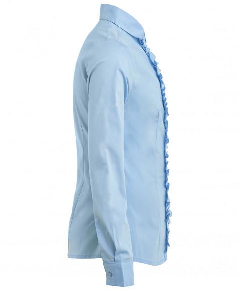 Голубая блузка со сменным бантиком