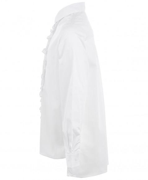 Белая блузка с удлиненной спинкой