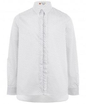 Серая блузка с удлиненной спинкой