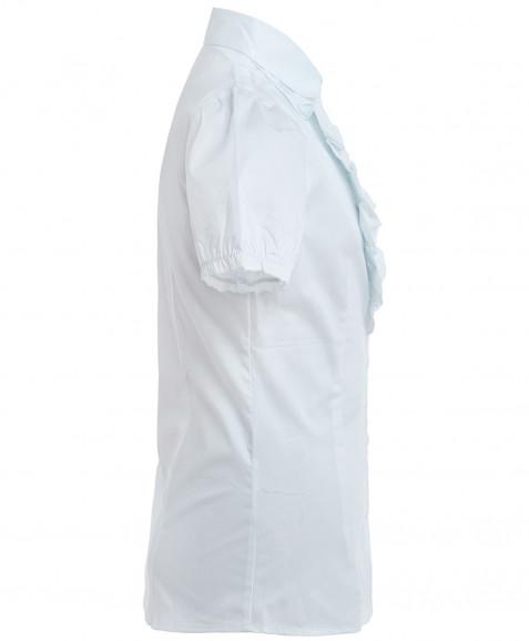 Белая приталенная блузка