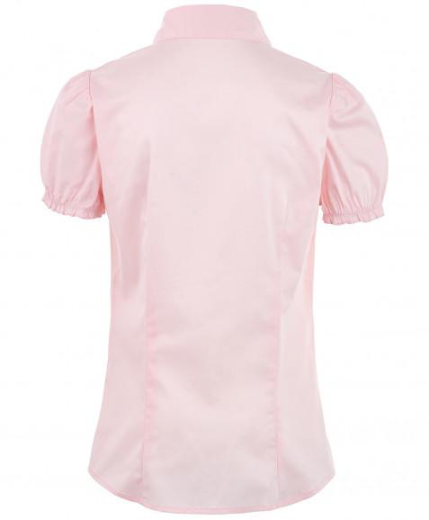 Розовая приталенная блузка