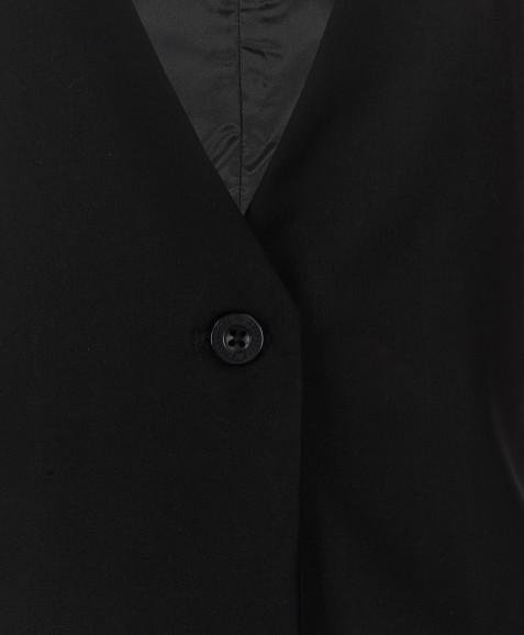 Черный удлиненный жилет