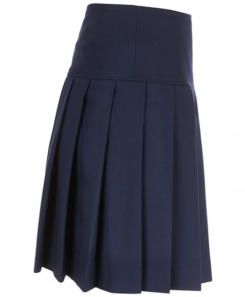 Синяя юбка в складку