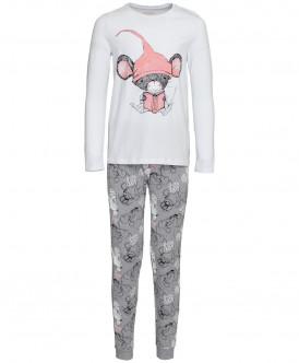 Серо-белая пижама