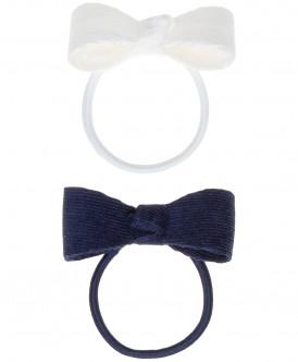 Набор резинок для волос с бантом, 2 шт. Button Blue