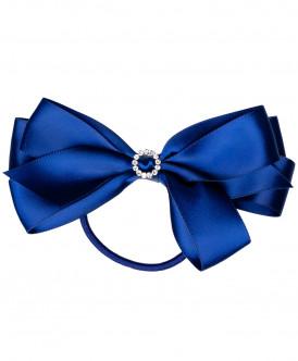 Синяя резинка с декором