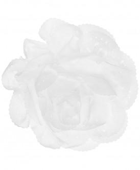 Белая заколка с цветком Button Blue
