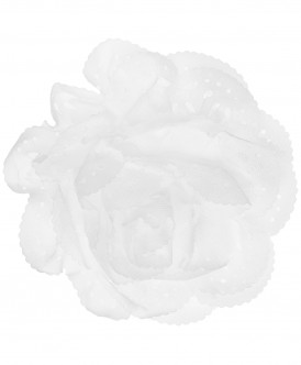 Белая заколка с цветком