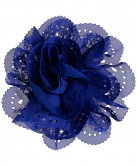 Синяя заколка с цветком