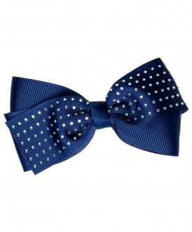 Синяя заколка с бантом в горошек Button Blue