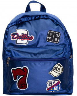 рюкзак button blue для девочки, синий