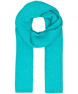 Бирюзовый вязаный шарф