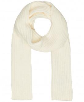 Вязаный шарф молочного цвета