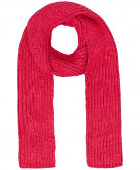Малиновый вязаный шарф