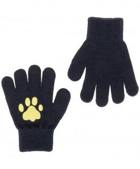 Синие вязаные перчатки