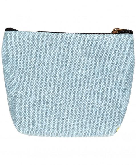 Голубой кошелек с орнаментом