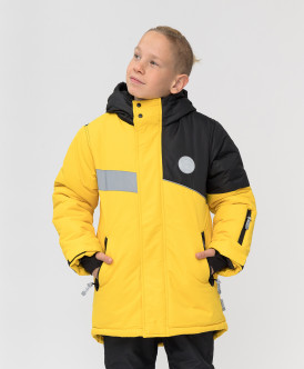 пальто button blue для мальчика, желтое