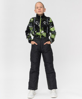 Купить 220BBBA64020800, Зимние брюки Active Button Blue, черный, 152, Мальчики