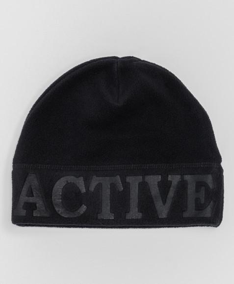 Черная флисовая шапка