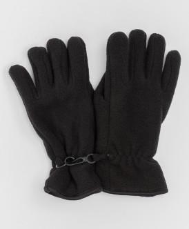 Черные флисовые перчатки