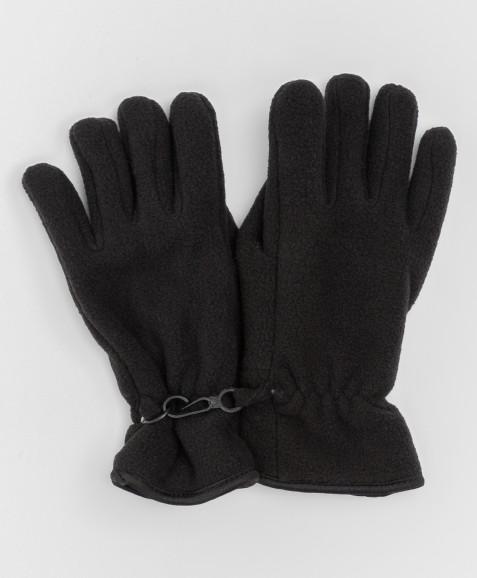 Черные флисовые перчатки Button Blue