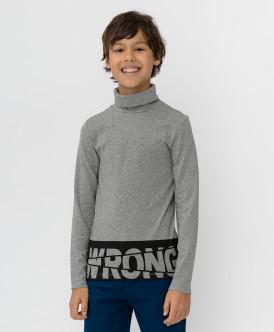 водолазка button blue для мальчика, серая