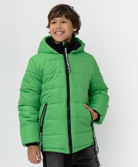 Зеленая зимняя куртка Button Blue