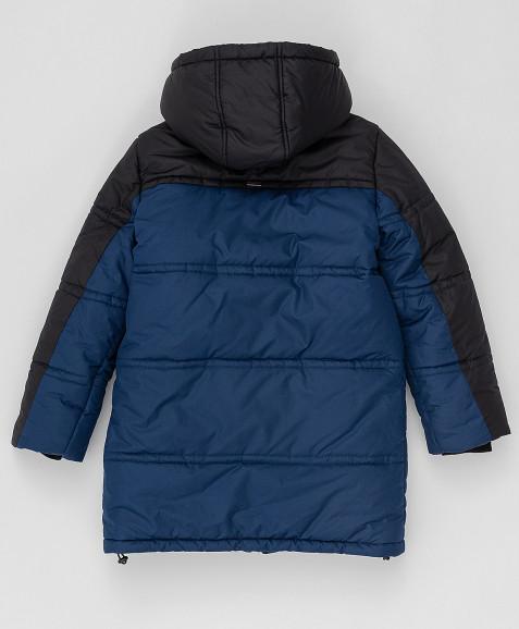 Темно-синее зимнее пальто Button Blue