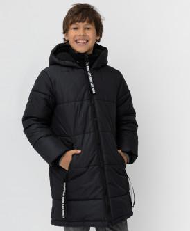 Черное зимнее пальто Button Blue
