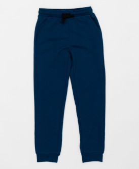 Синие брюки из футера Button Blue