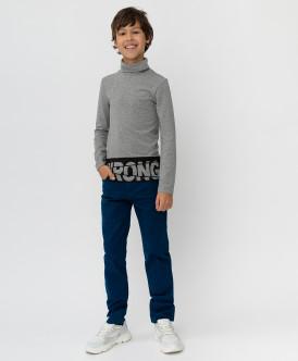 Темно-синие твиловые брюки Button Blue
