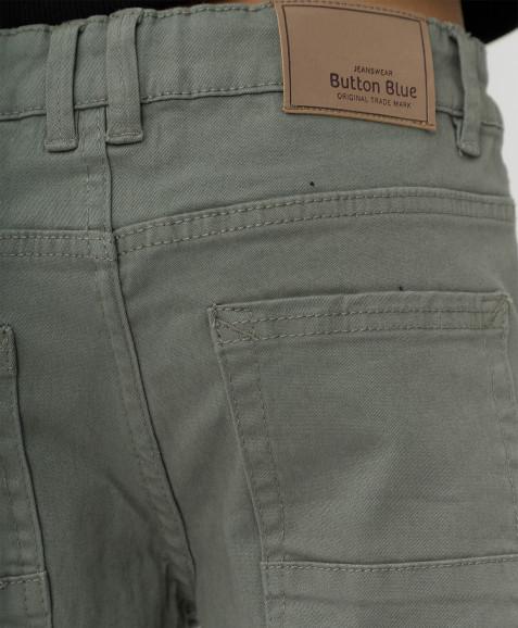Темно-серые твиловые брюки Button Blue