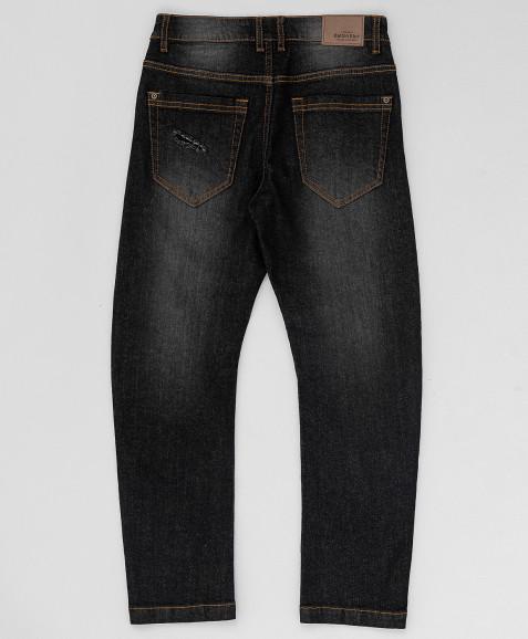 Черные свободные джинсы Button Blue