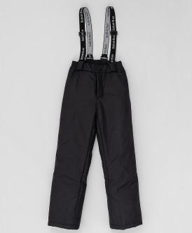 Черные зимние брюки Button Blue