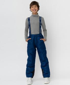 Темно-синие зимние брюки