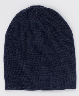 Синяя вязаная шапка Button Blue