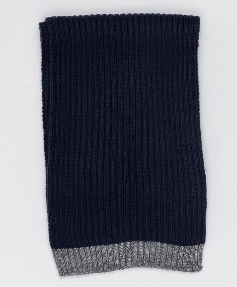Темно-синий вязаный шарф Button Blue