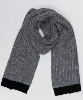 Серый вязаный шарф Button Blue