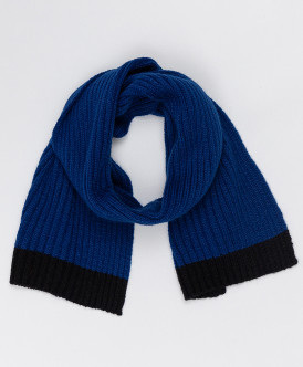Синий вязаный шарф Button Blue