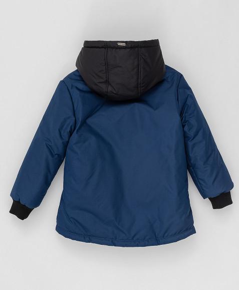 Темно-синяя демисезонная куртка