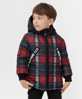 куртка button blue для мальчика, красная