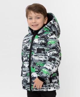 куртка button blue для мальчика, серая
